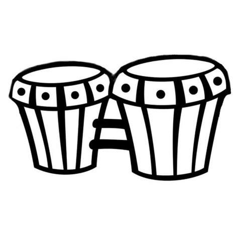 imagenes de instrumentos musicales faciles de dibujar dibujo para imprimir y colorear unos bongos