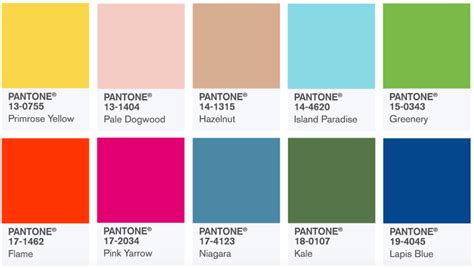trendy color schemes ss18 colour trends theonieadams