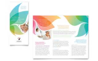 brochures templates word marriage counseling tri fold brochure template design