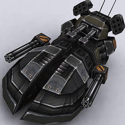 Gamis Syar I Ns 09 C Biru 1 sci fi hover tank 3d model