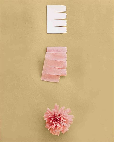 How To Make Flowers From Crepe Paper - how to make crepe paper flowers martha stewart weddings