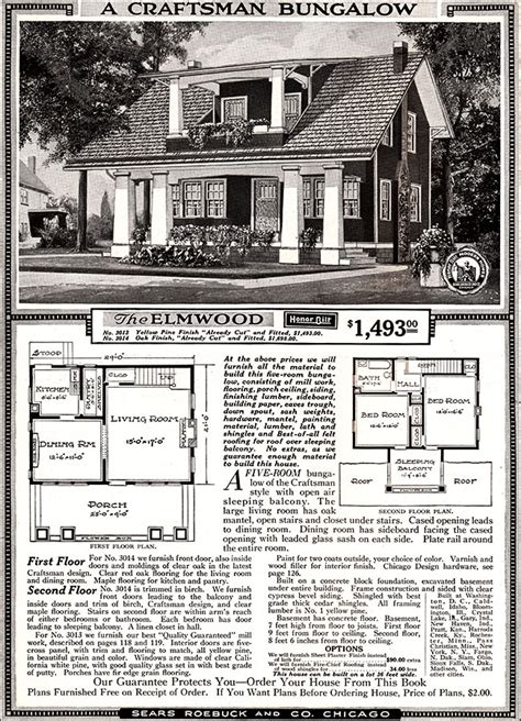 sears kit home plans 171 floor plans elmwood 1918 sears kit homes honor bilt craftsman