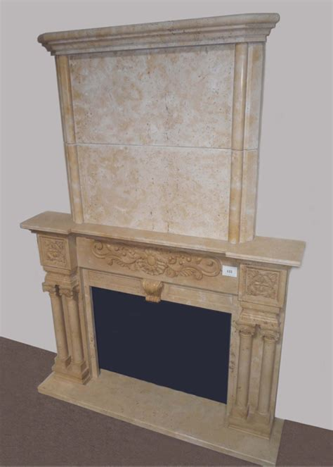 Fireplace Mantels 123 by E666 Yellow Marble Overmantel 123 Socal Fireplace