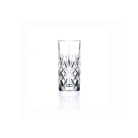 bicchieri di cristallo rcr bicchiere rcr melodia tumbler in cristallo lavorato cl 35