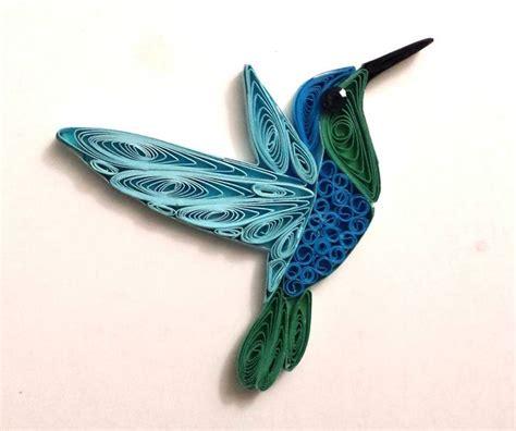 paper quilling birds tutorial quilled hummingbirds charm hummingbird mobile