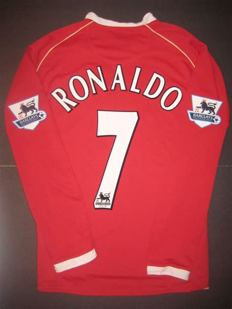 2006 2007 Manchester United Home Original Jersey Size L Ronaldo 7 2004 2006 nike manchester united cristiano ronaldo sleeve jersey shirt kit ebay