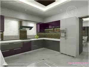 Interior Decoration Pictures Kitchen Kitchen Interior Views By Ss Architects Cochin Home Kerala Plans