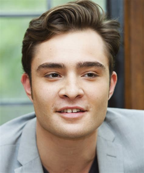 Ed Westwick Short Straight Casual Hairstyle