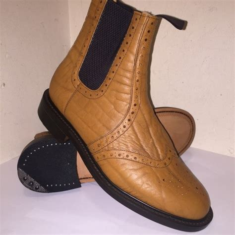nps made all leather brogue dealer boot farmers