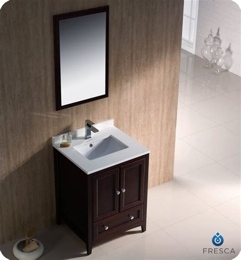 24 oxford mahogany traditional bathroom vanity platinum