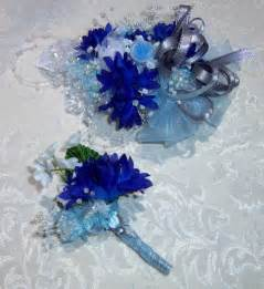 blue corsages for prom wrist corsage and boutonniere prom made from 3mimis prom