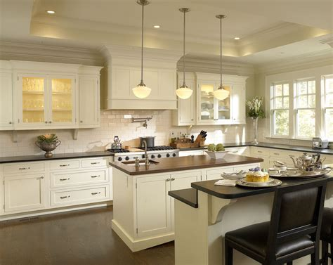 Interior Of Kitchen Cabinets Antique White Cabinets In Modern Kitchen Design Idea Feat Mid Century Island Set Three