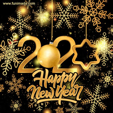 wishing   happy  year  gold glitter greeting card   funimadacom