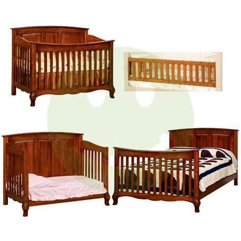 Baby Cribs Made In Usa Country Slats Convertible Baby Crib Made In Usa American Eco Furniture