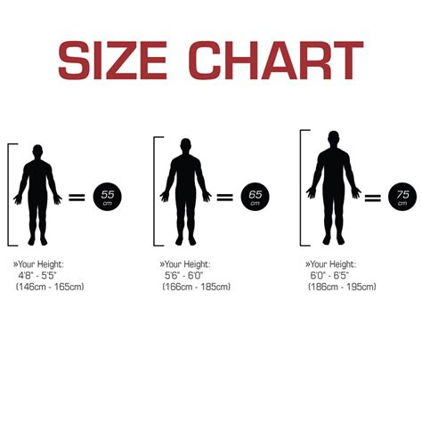 what size exercise ball for size chart
