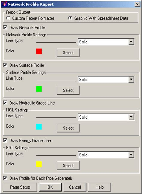 Hydraulic Grade Line Calculation Spreadsheet by Spreadsheet Sewer Editor