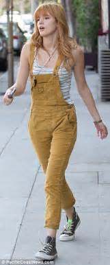 In her dungarees than the week earlier when she wore a strapless dress