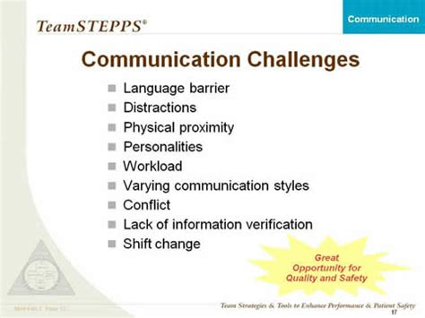 communication: classroom slides | agency for healthcare