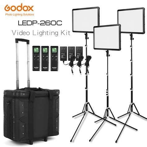 Godox Ledp 260c Light Led Continuous Lighting 1 free dhl godox led light kit 3x ledp 260c 3300 5600k
