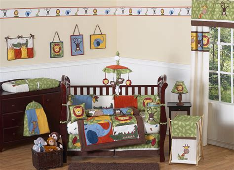 Jungle Themed Nursery Bedding Sets Unique Designer Safari Monkey Giraffe Jungle Themed 9p Baby Boy Crib Bedding Set Ebay