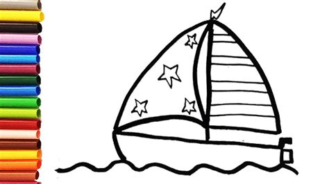 how to draw a toy boat how to draw a cute boat for kids toddlers dolly toy art