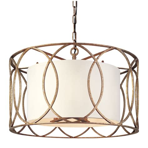 Pendant Drum Lighting Troy Sausalito Five Light Drum Pendant On Sale