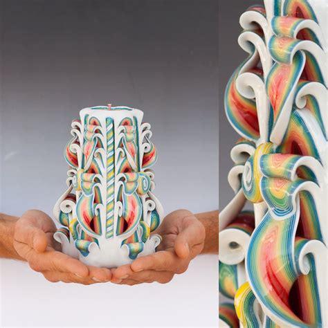 candele artistiche intagliate handgemachte geschnitzte kerzen burikov