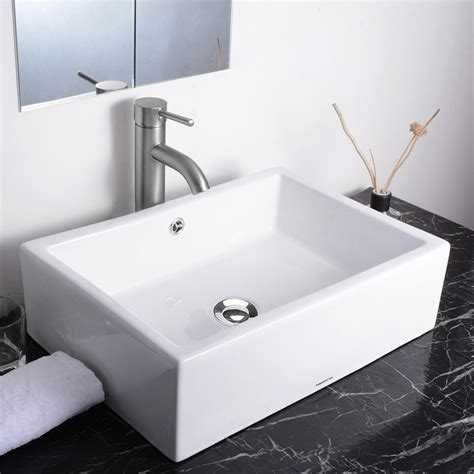 overflow in sink aquaterior 174 bathroom porcelain ceramic vessel sink vanity