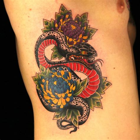 melissa monroe tattoo artist japanese snake by japanese snake