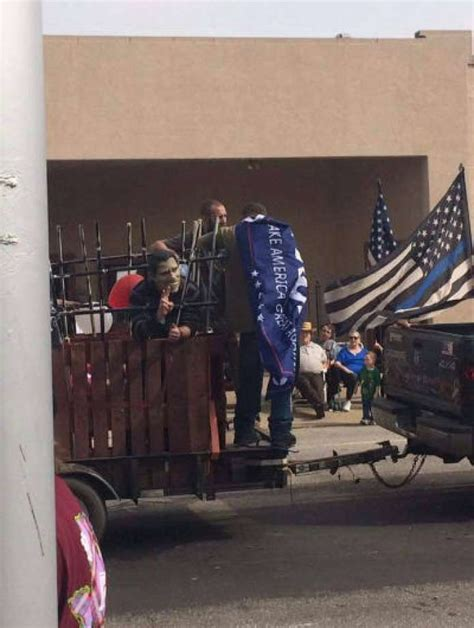 Parade Float Depicts Obama Hillary Clinton In Prison Parade Float Depicts Obama In Toilet Democratic