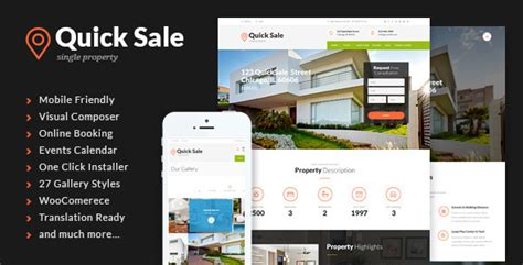 quick sale single property real estate theme by themerex