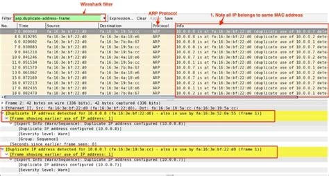 wireshark tutorial book arp duplicate ip detection packet analysis with