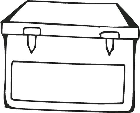 free coloring pages of a box