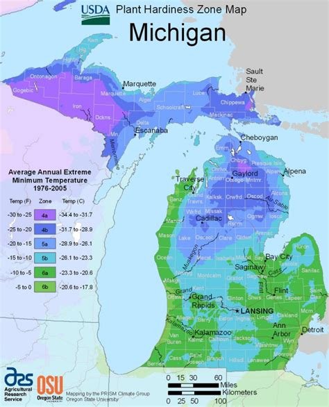 Lawn Care michigan plant hardiness zone map united states department