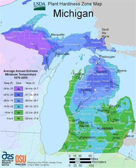 Michigan Plant Hardiness Zone Map United States Department