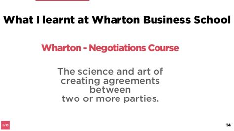 Wharton Mba Negotiation by The Of Principled Negotiation Academy Xi Think
