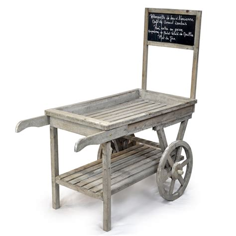 Wooden Garden Cart by Wooden Retail Display Cart With Chalkboard The Lucky