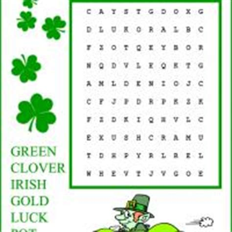 printable irish word search kids easy st patrick s day word search