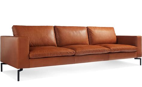 New Leather Sofas with New Standard 104 Quot Leather Sofa Hivemodern