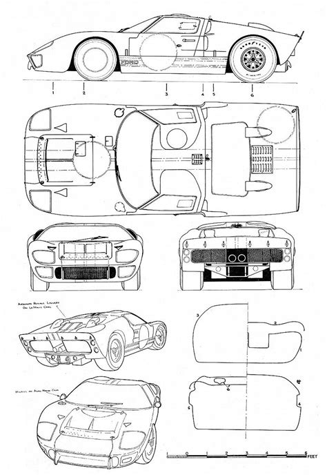 Pin by Surasit Chandhrathip on Blueprints | Ford gt, Ford