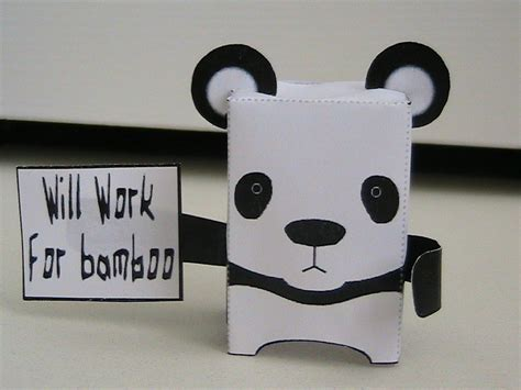 paper craft panda panda preservation papercraft by may7733 on deviantart
