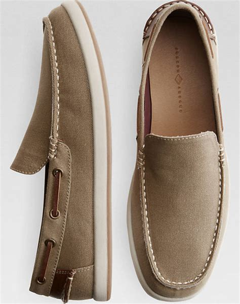 boat shoes international shipping joseph abboud ivan tan canvas boat shoes men s boat