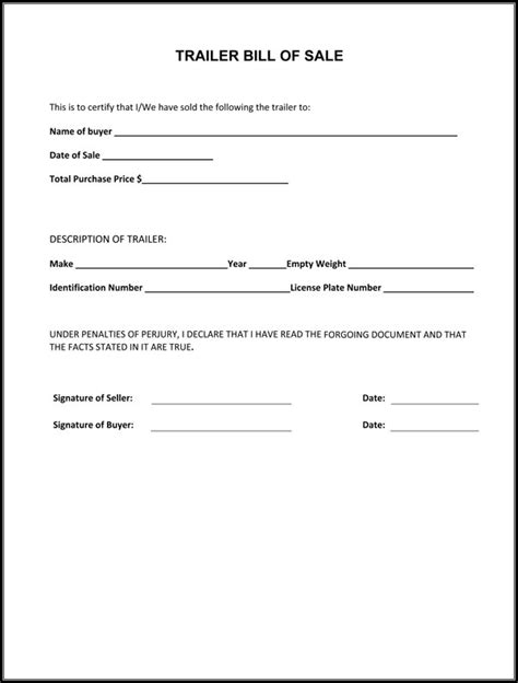 Agreement Letter For Selling A Bike printable sle bill of sale cer form forms and