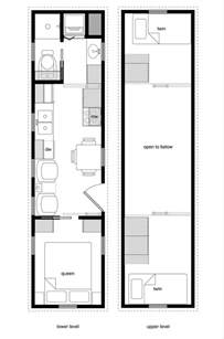 tiny house floorplans tiny house floor plans with lower level beds tiny house