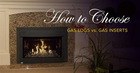 fireplace gas log inserts choosing between gas logs and a gas insert when updating your fireplace