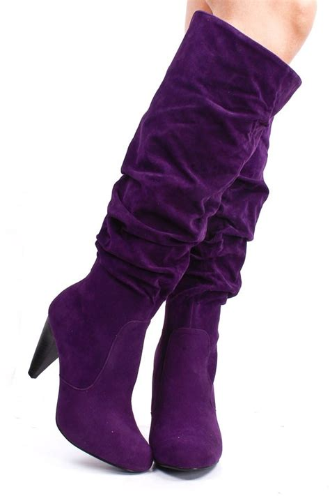 purple boots pin by kathy stephenson wilson on funky shoes