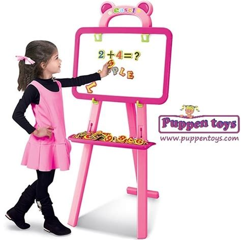 3 in 1 pink learning easel tengjia juguetes puppen toys
