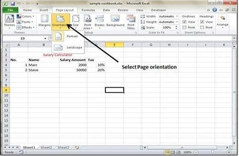landscape layout in excel how to set default margins in excel 2010 learn new