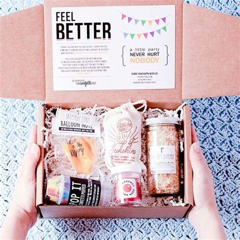 feel better care package goodies cheer and gift