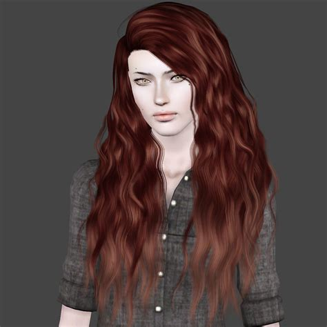 download wavy hair for sims 3 curly and straight long hair sims 3 sims 3 board